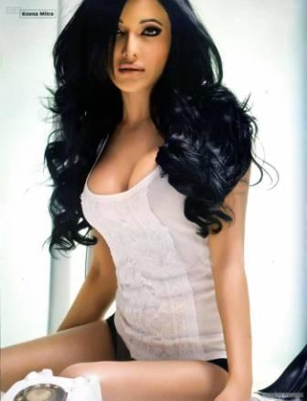 Koena Mitra Looking Hot and Sexy In T Shirt