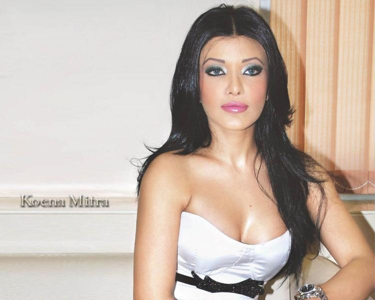 Koena Mitra Open Boob Show Gorgeous Wallpaper