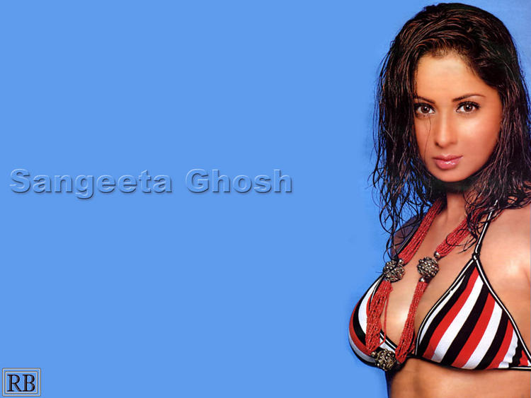 Sangeeta Ghosh Sexy Look In Bikini Wallpaper