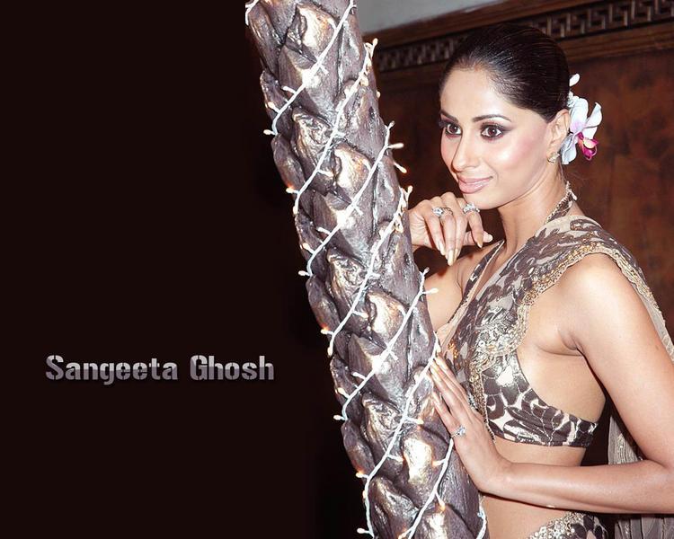 Smiling Sangeeta Ghosh Bold Wallpaper
