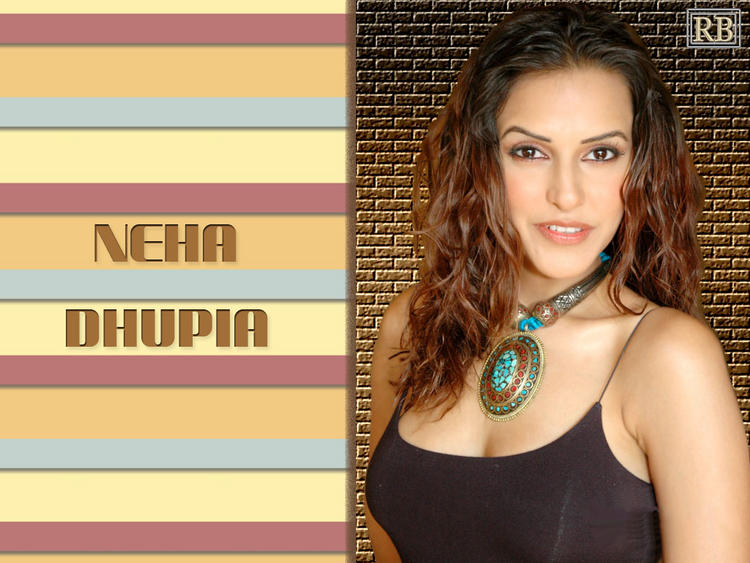 Neha Dhupia Awesome Look In Curly Hair Style