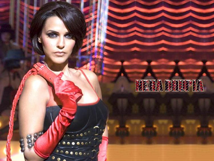 Neha Dhupia Bob Cut Hair Style Hot Wallpaper