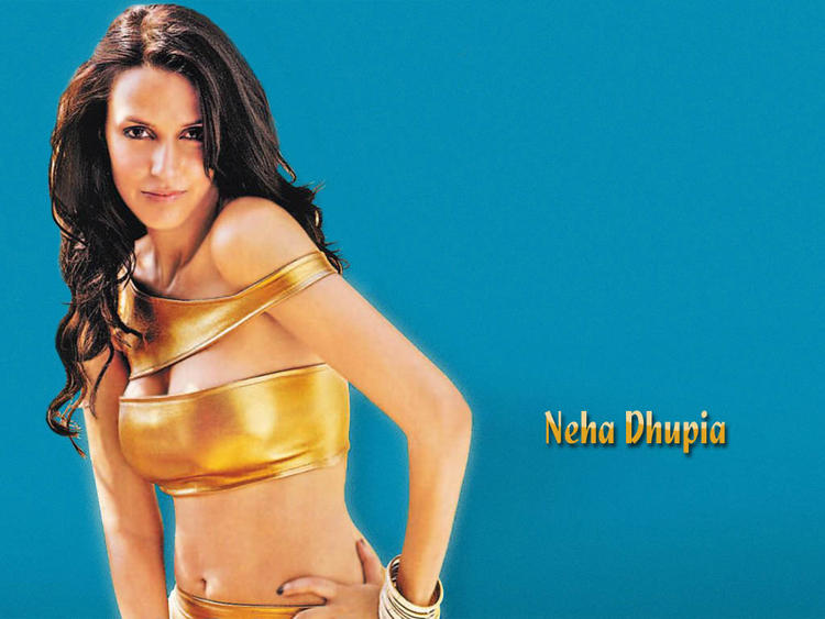 Neha Dhupia Masala Wallpaper In Sexy Dress