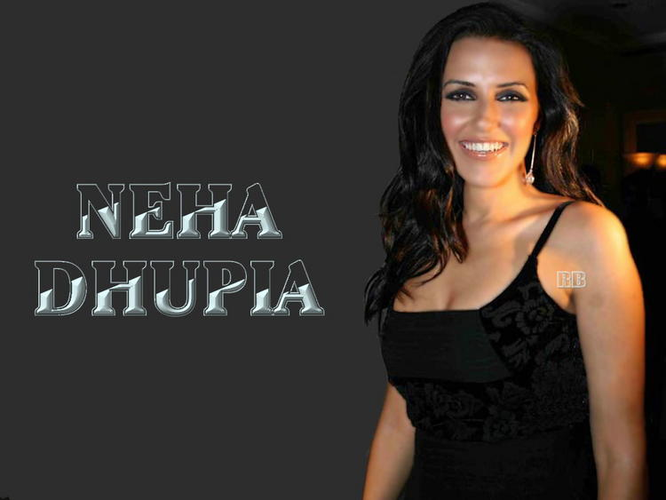 Neha Dhupia Smiling Face Look Wallpaper