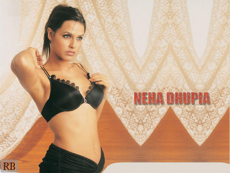 Neha Dhupia Wet Outfit Wallpaper