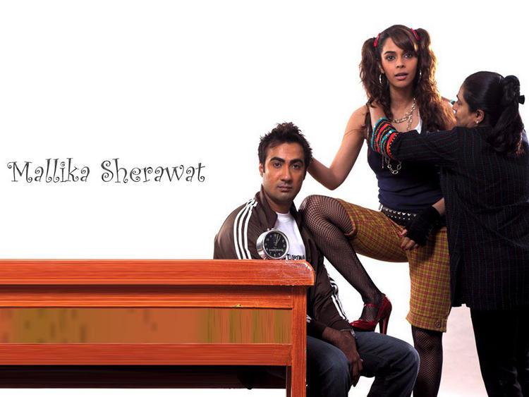 Mallika Sherawat Cute Hair Cut Wallpaper