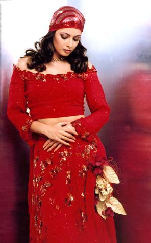Diya Mirza In Red Dress Sexy Photo Shoot