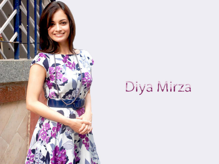 Diya Mirza Sweet Gorgeous Wallpaper