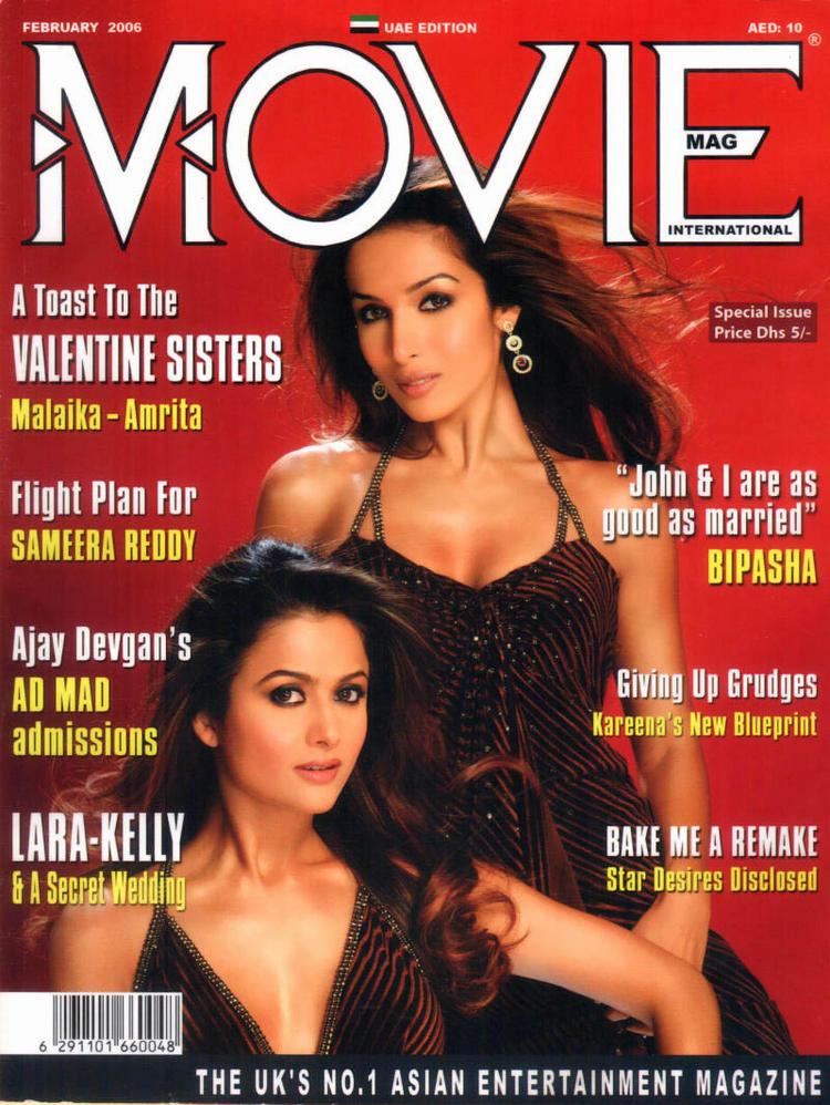 Malaika Arora Khan And Amrita Arora In Movie Magazine Wallpaper