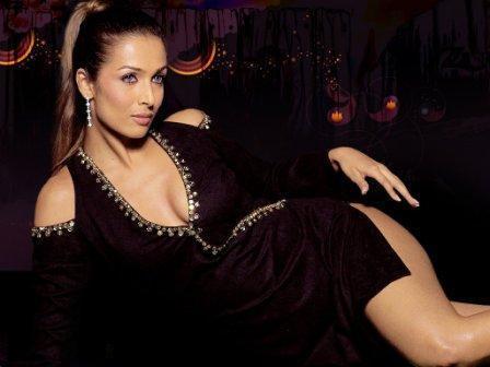 Malaika Arora Khan Black Dress Hot Wallpaper