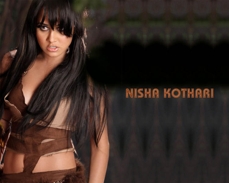 Nisha Kothari Hot Killer Look Wallpaper