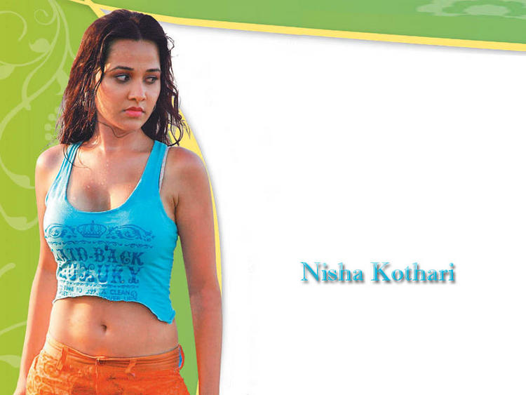 Nisha Kothari Wet Outfit Wallpaper