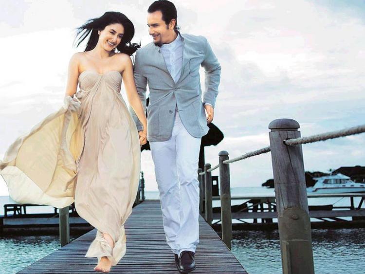 Kareena Kapoor with Saif Ali Khan in Agent Vinod