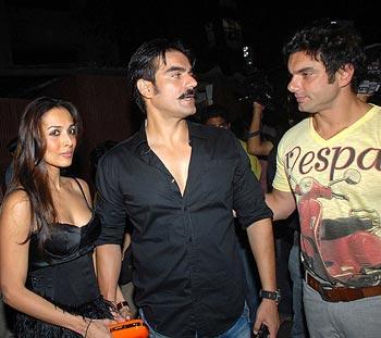 Sohail Khan and Arbaaz Wit Malaika