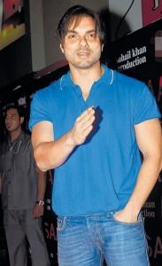Sohail Khan Glorious Pic In Blue T Shirt