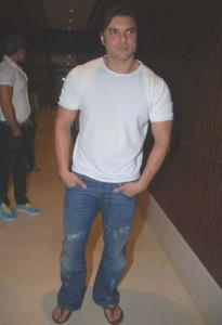 Sohail Khan With White T Shirt and Jeans