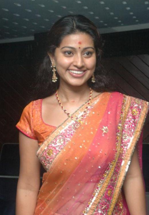 Sneha Transparent Saree Sweet Smile Pic