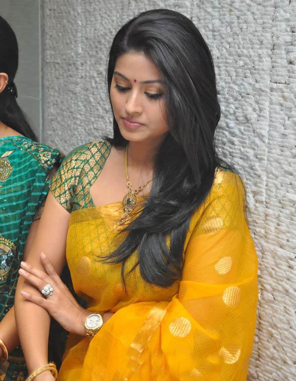 Sneha in Yellow Saree