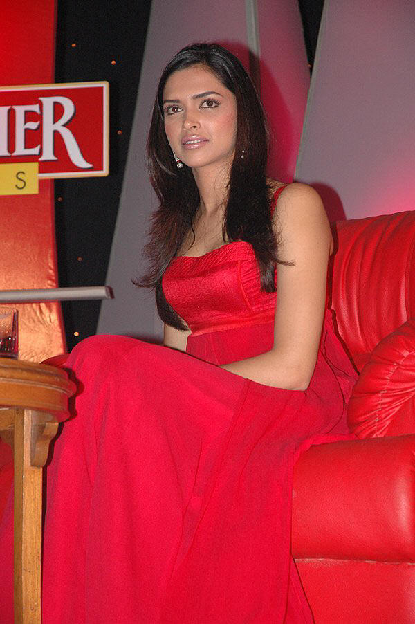 Deepika Padukone In Red Dress Glamour Still