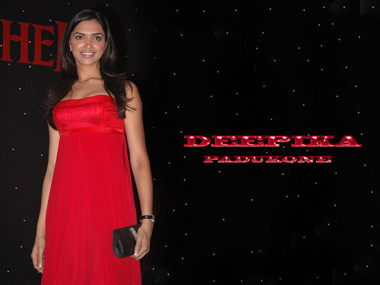 Deepika Padukone Red Dress Gorgeous Wallpaper