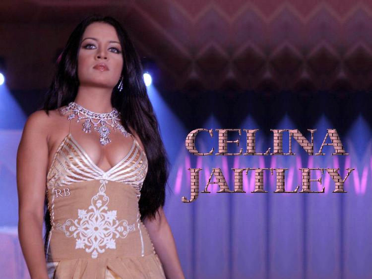 Bold Actress Celina Jaitley Glam Boob Wallpaper
