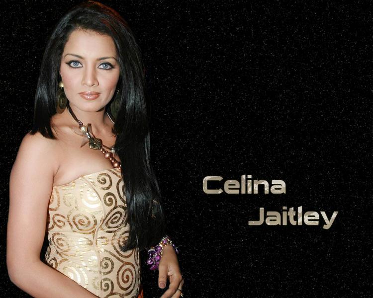Celina Jaitley Strapless Dress Hot Wallpaper