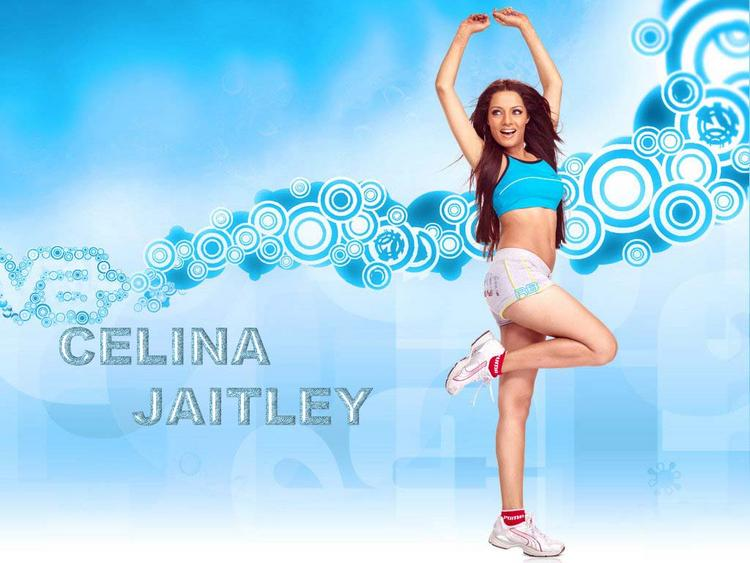 Sexy Actress Celina Jaitley Cute Still In Mini Skirt