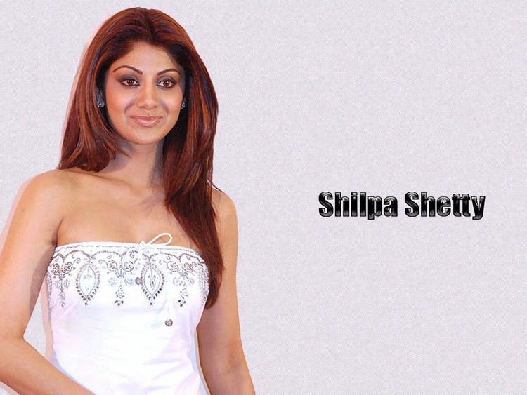 Shilpa Shetty Strapless Dress Wallpaper