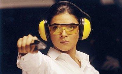 Sushmita Sen Hot Look With Gun