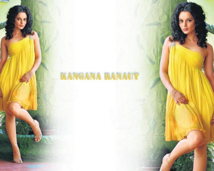 Curly Hair Beauty Kangana Ranaut Wallpaper