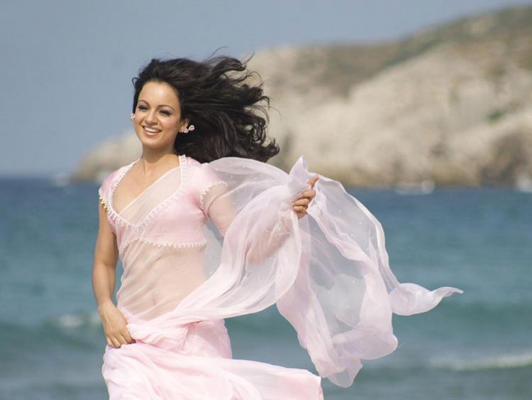 Kangana Ranaut Light Pink Dress Still