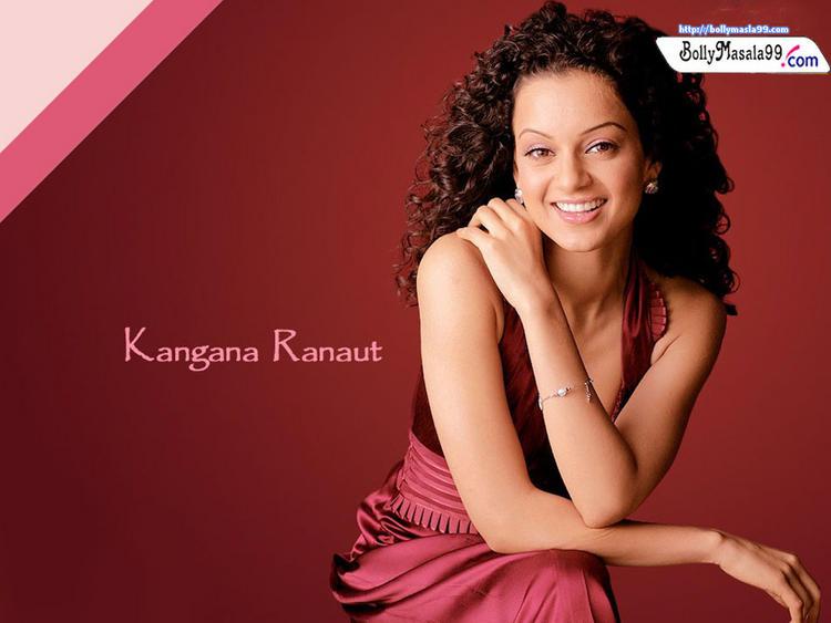 Kangana Ranaut Sweet Smiling Face Look Wallpaper