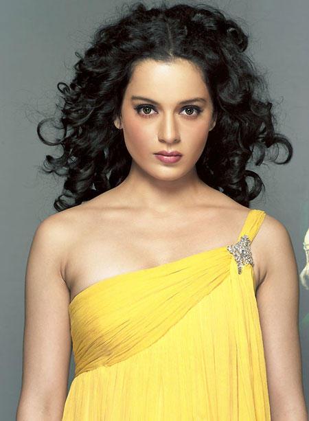 Kangana Ranaut Yellow Sleeveless Dress Sexy Still