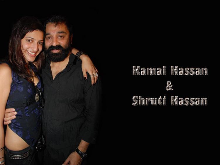 Kamal Hassan and Shruti Hassan Wallpaper