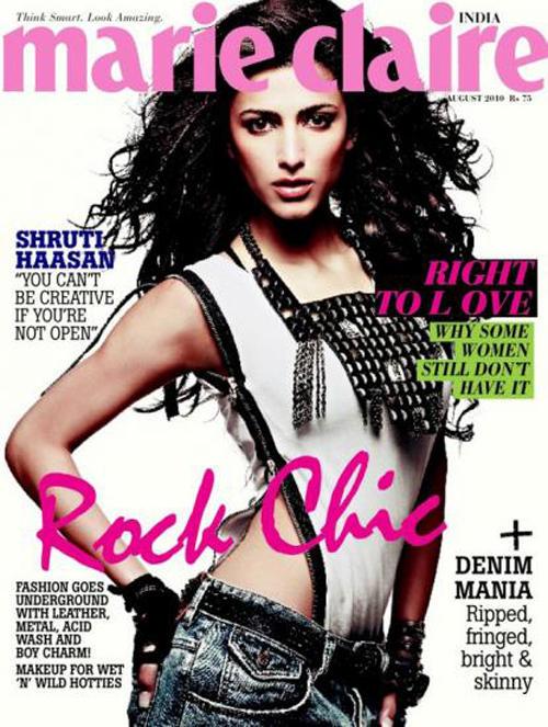 Shruti Hassan Marie Claire Magazine Still