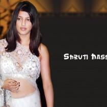 Shruti Hassan White Transparent Saree Sexy Wallpaper