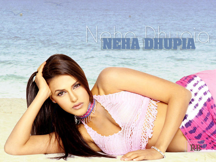 Neha Dhupia Sizzling Face Look Wallpaper