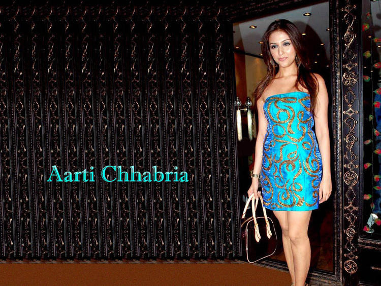 Aarti Chhabria Glazing Teal Color Dress Wallpaper