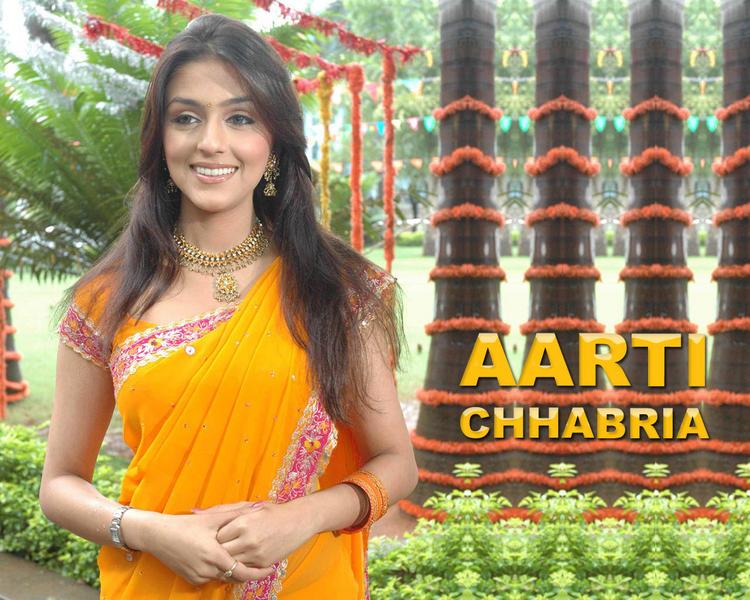 Aarti Chhabria Looks Sizzlis In Saree