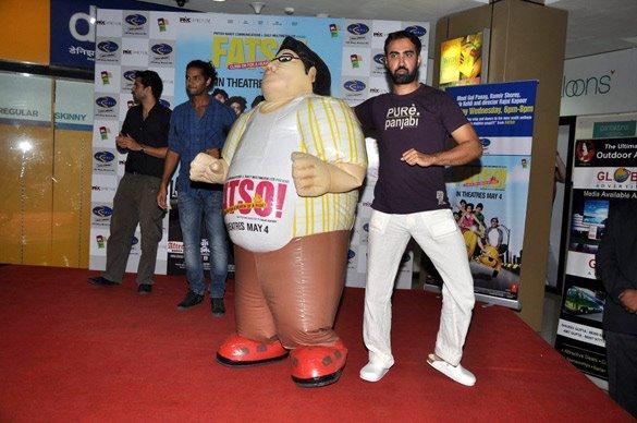 Ranvir Shorey Promote Fatso at R-Mall