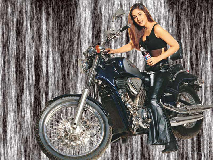 Kareena Kapoor Wonderful Still On Bike
