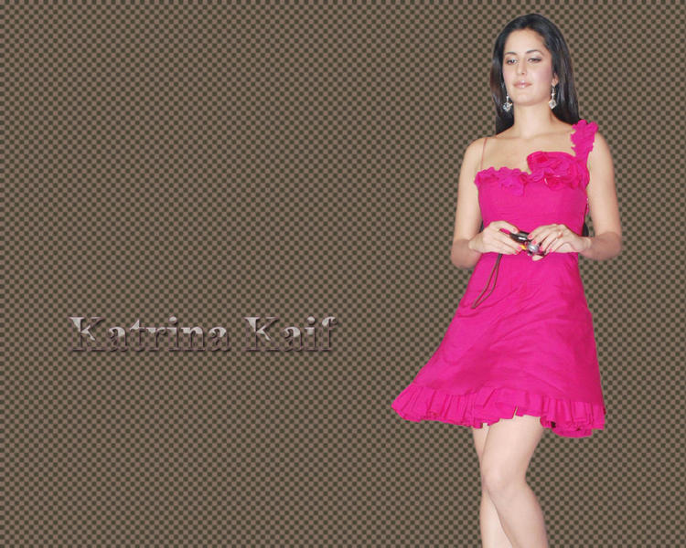 Glorious Katrina Kaif Magenta Color Dress Wallpaper