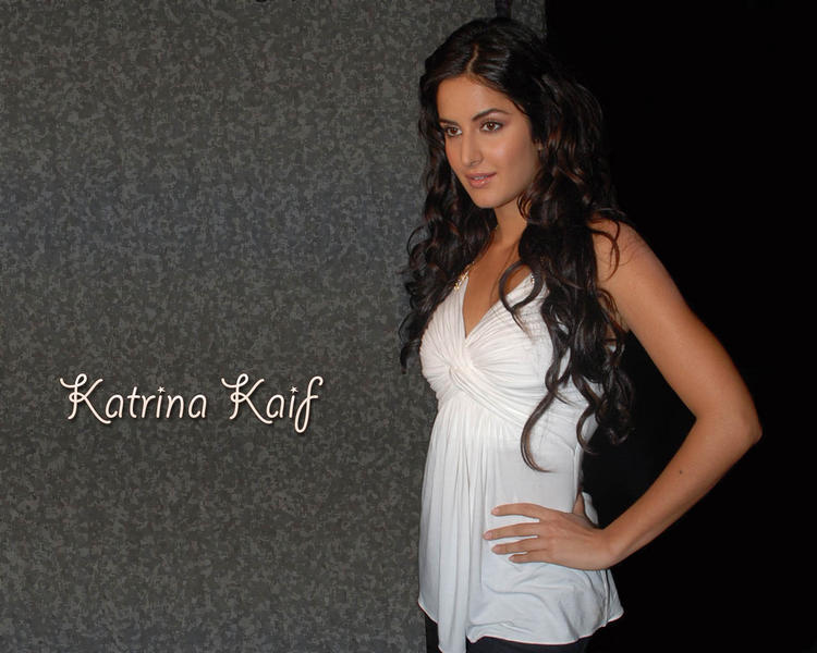 Katrina Kaif Sizzling Wallpaper In White Tops
