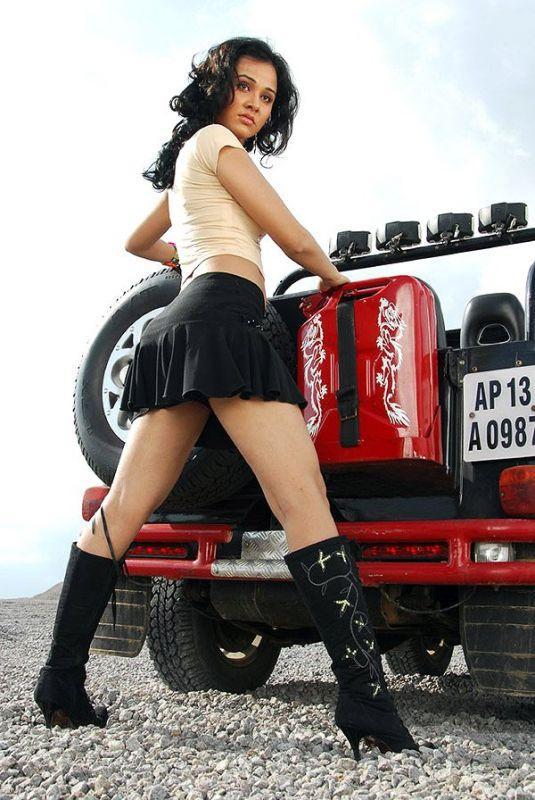 Nisha Kothari Sexy Hot Still In Mini Skirt