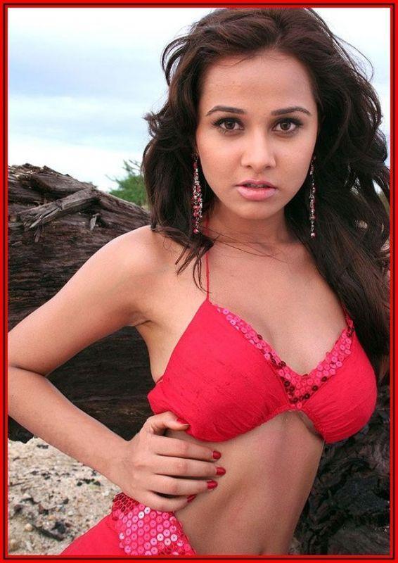 Nisha Kothari Wet Outfit Still In Bikini