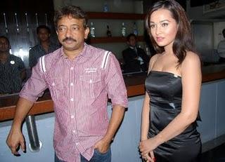 Ram Gopal Varma and Nisha Kothari Photo