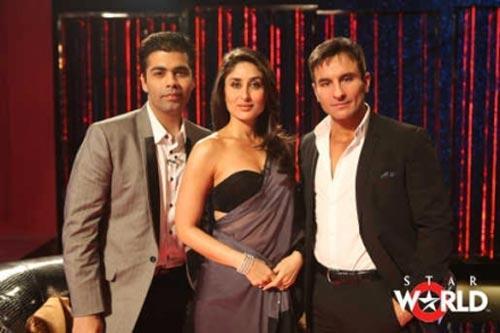 Kareena With Karan and Saif