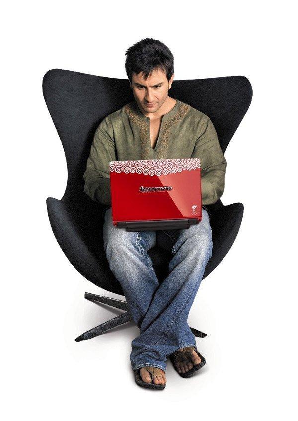 Saif Ali Khan Latest Pic With Laptop