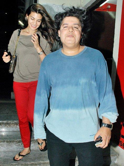 Jacqueline Fernandez and Sajid Khan at PVR