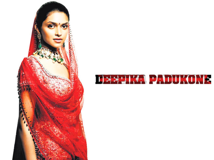 Deepika Padukone In Red Dress Gorgeous Wallpaper